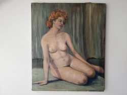Pajor Ferenc XX.sz. magyar festő: női akt olaj 60x50 cm