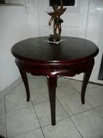 Nagyon régi antik barokk kerek asztalka maximálisan stabil állapotban