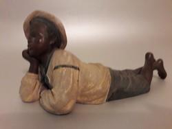 Osztrák szecessziós kerámia figura BERNARD BLOCH  1910 antik