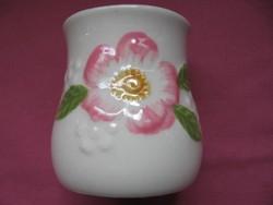 Vadrózsás shabby Sissi kis váza