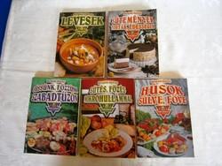5 db Hargitai György szakácskönyv egyben