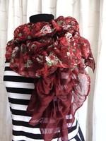 Habos-babos rózsás sál