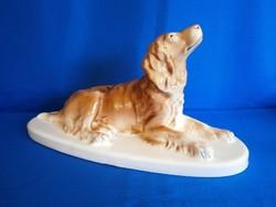 Régi Gránit kerámia óriási fekvő spániel kutya hibátlan állapotban A01