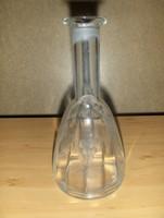 Retro csiszolt üveg palack likőr pálinka kiöntő (fp)