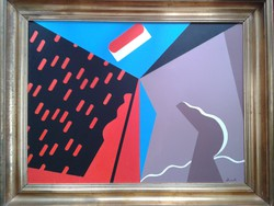 Festmény. Deim Pál - ÉGI JEL II - vászon akril. Mérete:60 x 80 cm. Ár:870 000 Ft.