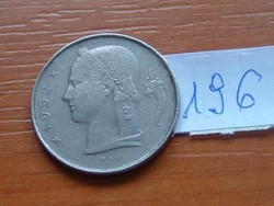 BELGIUM BELGIQUE 1 FRANK 1952 196.