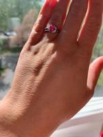 Szabadíts meg a gonosztól! :) Rubin-gyémánt gyűrű