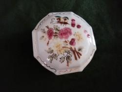 Gyönyörű Zsolnay pillangó és virág mintás ékszertartó