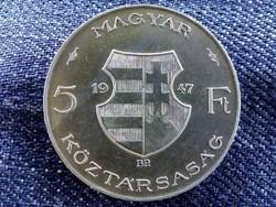 Ezüst Kossuth 5 Forint 1947/id 9138/