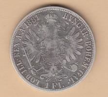 Ezüst 1 Florinosok 1881,1888,1861 T2 és T2-3