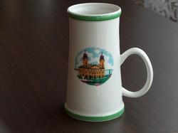 Debrecen, Nagytemplom, hollóházi porcelán kupa, korsó