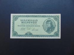 100 millió milpengő 1946 Szép ropogós bankjegy  01