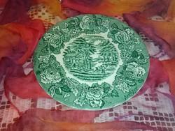 Angol jelenetes porcelán tányér...gyönyörű újszerű.