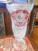 Ólomkristály nagy méretű váza 34 cm, súlya 3 kg