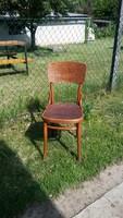 Csodás mintás antik jelzett thonet szék kényelmes stabil üléssel
