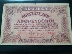 Egyszázezer Adópengő 1946-os