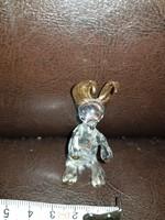 Aranyozott üveg zsebibaba, egy magyar művésznő csinálta, hibátlan!
