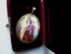 Antik 14k arany Mária medál