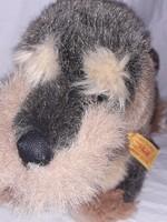 Nagy méretű STEIFF szálkás szőrű tacsi tacskó  kutya kutyus