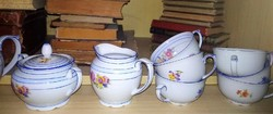 Gyönyörű 6 személyes Bavaria teás készlet hiányos picit, de hibátlan!