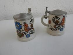 Szerelmes madár pár mintával ónfedeles mini kupa pár