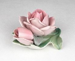 0X143 Régi német porcelán ENS rózsa