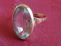 Art deco akvamarin köves arany gyűrű