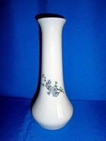 Régi Aquincumi porcelán váza ritka virág festéssel 27 cm magas