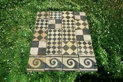 Antik patchwork cementlap járólap mozaiklap vegyes csempe 8,8 nm