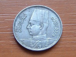 EGYIPTOM 5 MILLIME 1938 AH1357 FARUK #