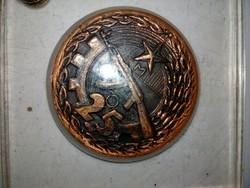 Munkásőrség bronz plakett   Ritka!!!!