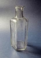 Régi fehér átlátszó külsőleg üveg, patikai N010