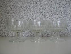 Pezsgős-likőrös retro pohár 6db