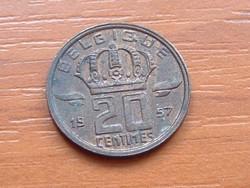 BELGIUM BELGIQUE 20 CENTIMES 1957  BÁNYÁSZ