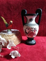 Váza keleti kerámia Görög Amfora váza 22,50 cm magas