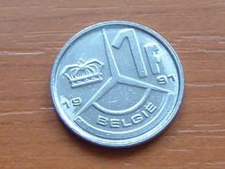 BELGIUM BELGIE 1 FRANK 1991