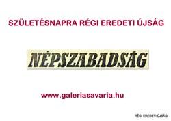 1984 június 7  /  NÉPSZABADSÁG  /  Régi ÚJSÁGOK KÉPREGÉNYEK MAGAZINOK Szs.:  11621