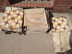 Retro Csehszlovák metlachi burkolólap, csempe, kb 14 négyzetméter
