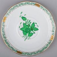 Herendi zöld Apponyi mintás csészealj