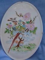 Nagy méretű  szererlmes paradicsom madár páros   20,5 x  15  cm  antik antik kézzel festett