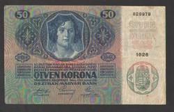 50 korona 1914.  NAGYON SZÉP!!  RITKA!!