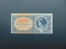 10000 milpengő 1946 Látványosan elcsúszott nyomat !