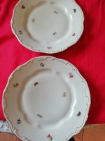 2 db Zsolnay arany tollazott porcelán lapos tányér