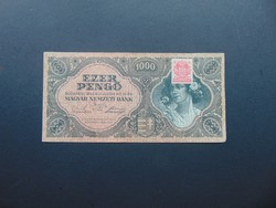 1000 pengő 1945 F 387 Szép ropogós bankjegy