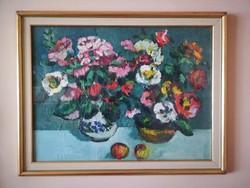 Schéner Mihály Virágcsendélet eredeti festmény