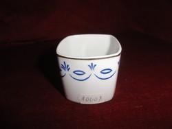 Hollóházi porcelán cigarettatartó, kék mintával, SZÜV felirattal.