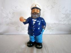 Különleges és ritka tengerész figura (talán kerámia?) 17 cm magas