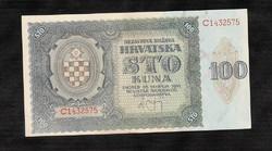 Ritka 100 Kuna 1941  Horvátország