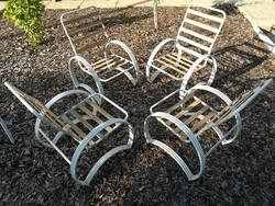 Bauhaus design kerti garnitúra, csővázas pihenő fotel 4 db