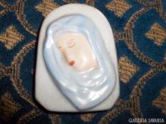 Régi porcelán falidísz - domború, kézzel festett